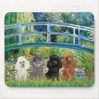 Poodles (four) - Bridge Mouse Pad