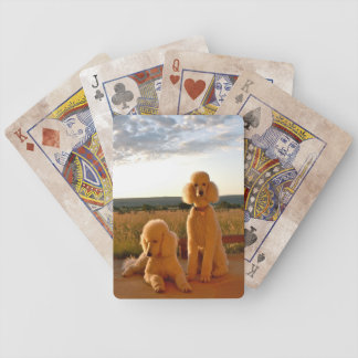 Poodles in New Mexico Playing Cards
