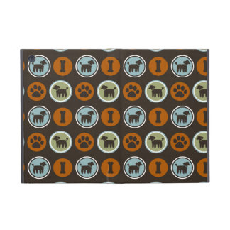Poodles Pattern with Paw Prints and Dog Biscuits iPad Mini Case