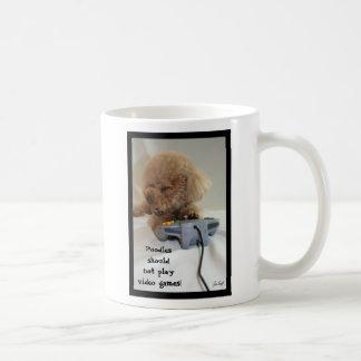 Poodles should not play video games! Mug
