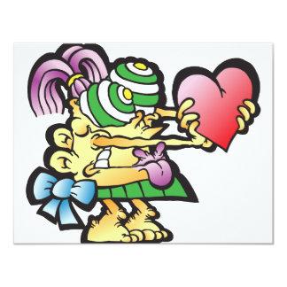"poodley-woodley 4.25"" x 5.5"" invitation card"