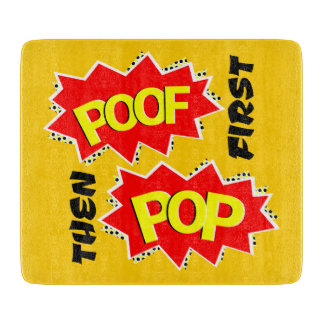 POOF and POW starbursts Cutting Boards