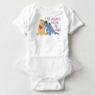 Pooh & Eeyore | Big Hearts Deserve Big Hugs Baby Bodysuit
