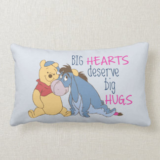 Pooh & Eeyore | Big Hearts Deserve Big Hugs Lumbar Pillow