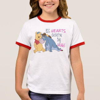 Pooh & Eeyore | Big Hearts Deserve Big Hugs Ringer T-Shirt