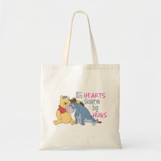 Pooh & Eeyore | Big Hearts Deserve Big Hugs Tote Bag