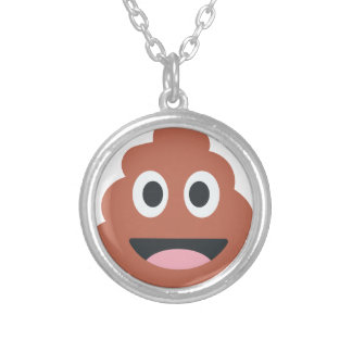 Pooh emoji silver plated necklace