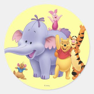 Pooh & Friends 4 Classic Round Sticker