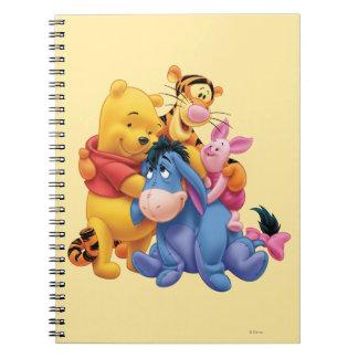 Pooh & Friends 5 Spiral Notebook