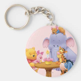 Pooh & Friends Birthday Keychain