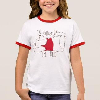 Pooh | I'd Rather Be in Bed Ringer T-Shirt