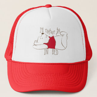 Pooh   I'd Rather Be in Bed Trucker Hat
