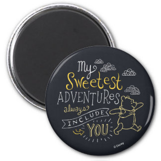 Pooh | My Sweetest Adventures 2 Inch Round Magnet