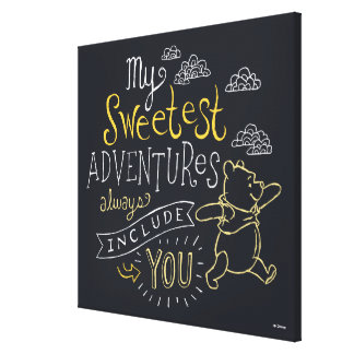 Pooh | My Sweetest Adventures Canvas Print