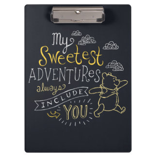 Pooh | My Sweetest Adventures Clipboard