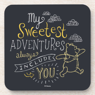 Pooh | My Sweetest Adventures Drink Coasters