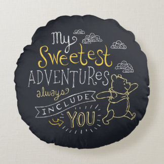 Pooh | My Sweetest Adventures Round Pillow
