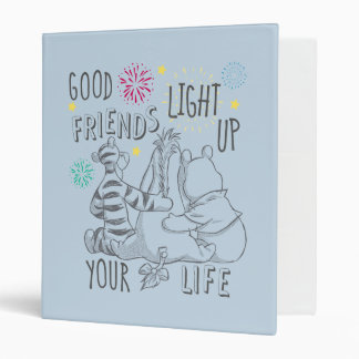 Pooh & Pals | Friends Light Up Your Life 3 Ring Binder