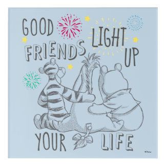 Pooh & Pals | Friends Light Up Your Life Acrylic Wall Art
