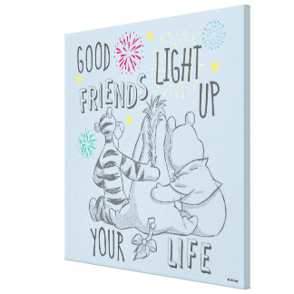 Pooh & Pals | Friends Light Up Your Life Canvas Print