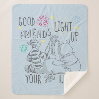 Pooh & Pals | Friends Light Up Your Life Sherpa Blanket
