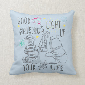 Pooh & Pals | Friends Light Up Your Life Throw Pillow