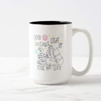 Pooh & Pals | Friends Light Up Your Life Two-Tone Coffee Mug