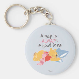 Pooh & Piglet | A Nap is Always a Good Idea Keychain