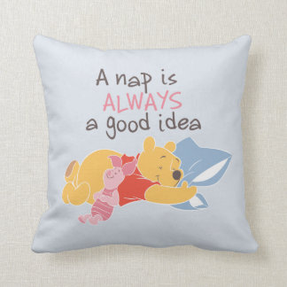 Pooh & Piglet | A Nap is Always a Good Idea Throw Pillow