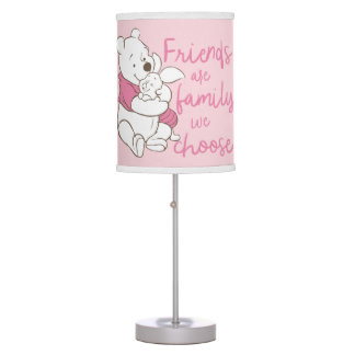 Pooh & Piglet | Friends are Family We Choose Table Lamp