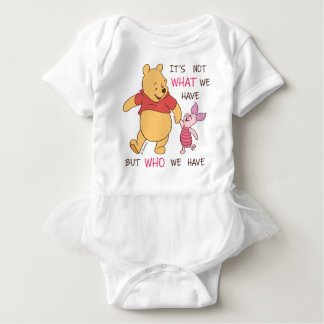 Pooh & Piglet | It's Not What We Have Quote Baby Bodysuit