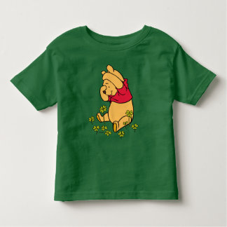 Pooh Playing in a Shamrock Patch Toddler T-shirt