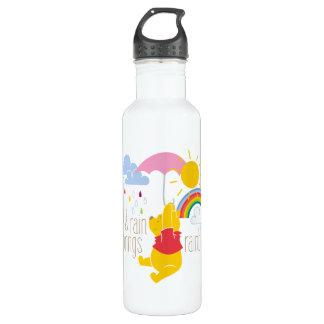 Pooh   Sun & Rain Brings Rainbows Quote 710 Ml Water Bottle