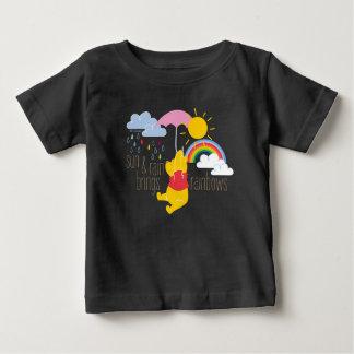 Pooh | Sun & Rain Brings Rainbows Quote Baby T-Shirt