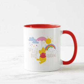 Pooh | Sun & Rain Brings Rainbows Quote Mug