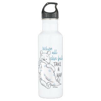 Pooh   Take a Nap Quote 710 Ml Water Bottle