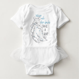 Pooh | Take a Nap Quote Baby Bodysuit