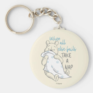 Pooh | Take a Nap Quote Keychain
