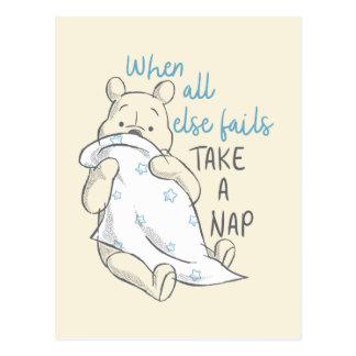 Pooh   Take a Nap Quote Postcard