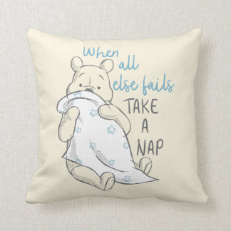 Pooh | Take a Nap Quote Throw Pillow