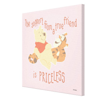 Pooh & Tigger | Support Quote Canvas Print