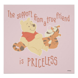 Pooh & Tigger | Support Quote Poster