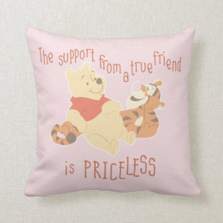 Pooh & Tigger | Support Quote Throw Pillow