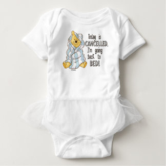 Pooh | Today is Cancelled Quote Baby Bodysuit