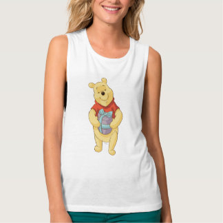 Pooh With Gift Tank Top