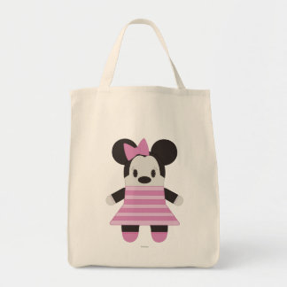 Pook-a-Looz Minnie | Pink Stripes Dress Tote Bag