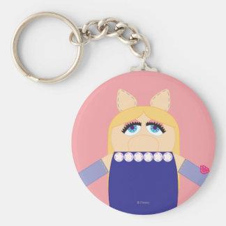 Pook-a-Looz Miss Piggy Basic Round Button Keychain