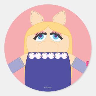 Pook-a-Looz Miss Piggy Classic Round Sticker