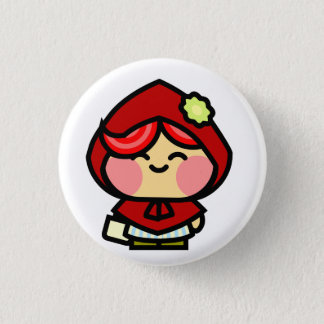 Pookah Red Riding Hood 1 Inch Round Button