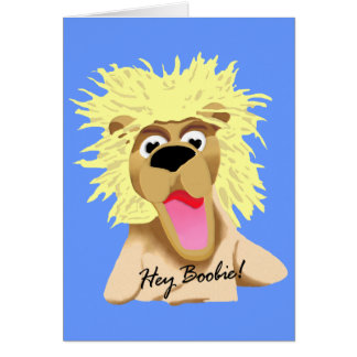 Pookie the Lion Greeting Card